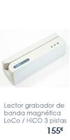 Lector grabador de banda magnética LoCo / HiCO  3 pistas